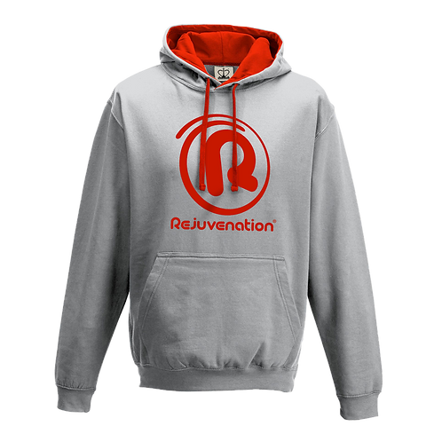 Rejuvenation Grey & Red Hoody - ® Logo