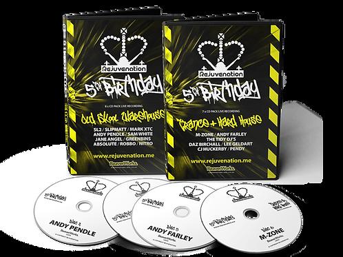 Rejuvenation Double CD Pack Offer (Old Skool / Trance & Hard House)