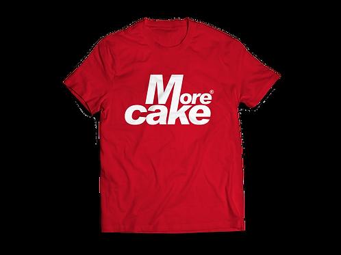 Mens Red More Cake Tshirt