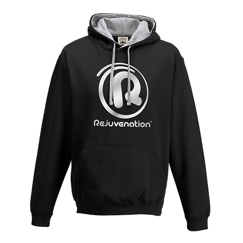 Rejuvenation Black & Silver Hoody - ® Logo