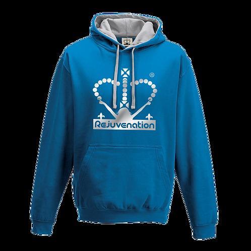 Rejuvenation Sapphire Blue & Silver Hoody - Crown Logo