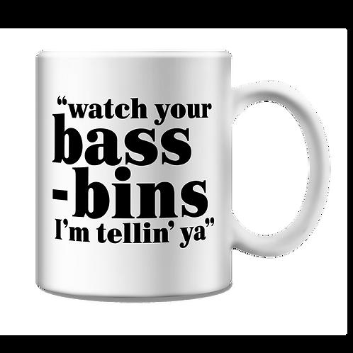 Altern8 'Watch Your Bass-Bins' Mug