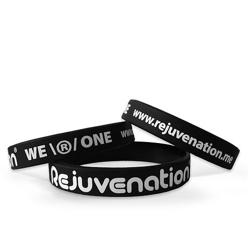Rejuvenation Black Contrast Wristband