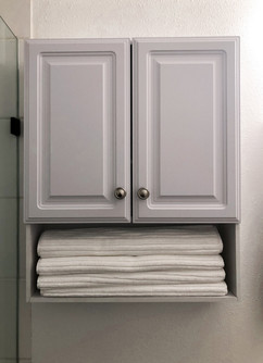 Extra towels in the restroom