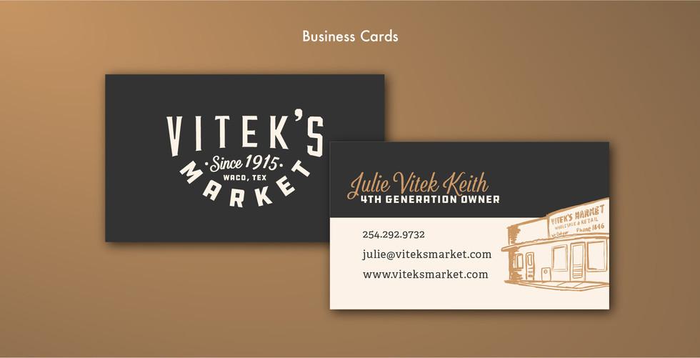 Vitek's Market Business Cards