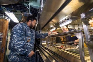 Huntington Ingalls Industries celebrates first meal aboard Submarine Indiana