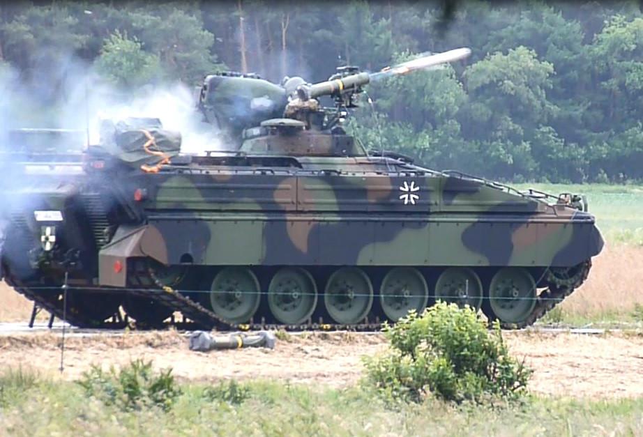 Rheinmetall integrates MELLS antitank guided missile into Marder infantry fighting vehicle