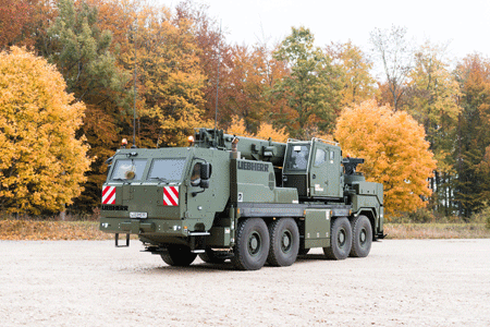 Rheinmetall to supply protected cabs for a new generation of Bundeswehr crane vehicles