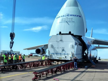 SSL-built AsiaSat 9 arrives at Baikonur launch base