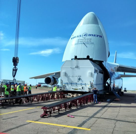 SSL-built AsiaSat 9 arrives at Baikonur launch base