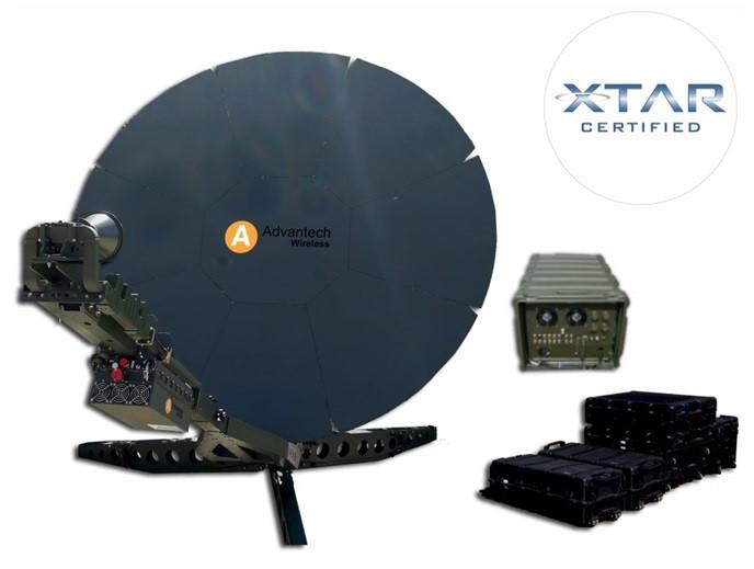 Advantech Wireless Engage Class 2.4m flyaway dual band, dual link VSAT system receives NATO European Customer and XTAR Certification