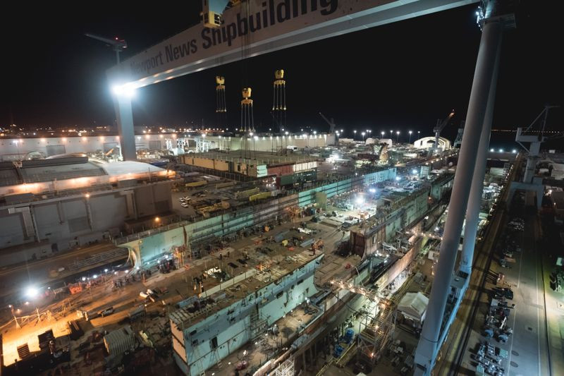 Aircraft Carrier John F. Kennedy reaches 75 percent structural completion