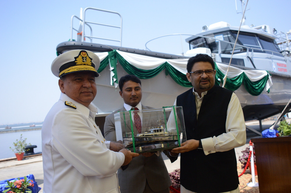 Karachi Shipyards & Engineering Works  delivers two Damen Stan Patrol 1605 FRP patrol boats to Pakistan Customs