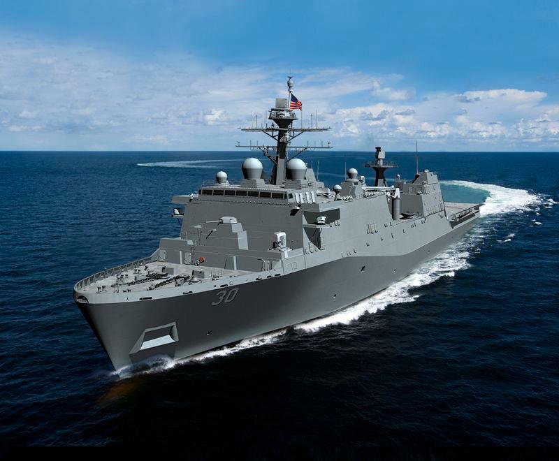 Huntington Ingalls Industries awarded $1.47 billion for construction of US Navy's First Flight II LPD