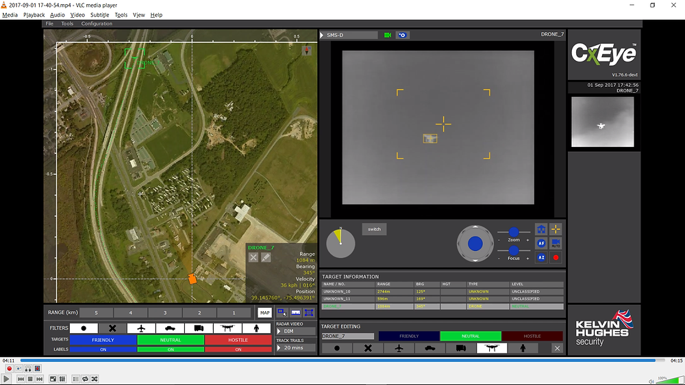Kelvin Hughes shows the next evolution of drone detection technology at DSEI