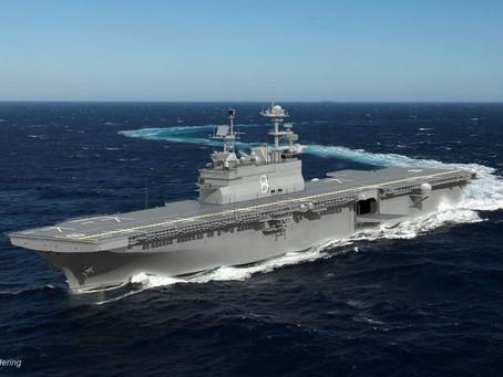 Huntington Ingalls Industries awarded $3 billion to build amphibious assault ship Bougainville (LHA