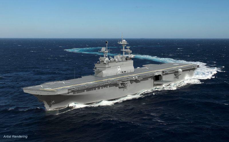 Huntington Ingalls Industries awarded $3 billion to build amphibious assault ship Bougainville (LHA 8)