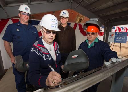 Huntington Ingalls Industries authenticates keel of National Security Cutter Midgett (WMSL 757)
