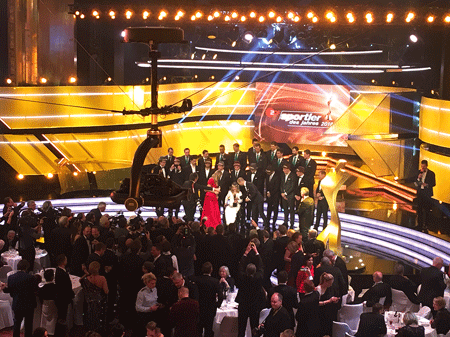 "New views for ZDF Gala ""Sportsman of the Year 2018"" with Robycam Compact"