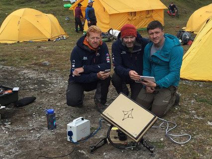 Broadband in a backpack at the top of the world