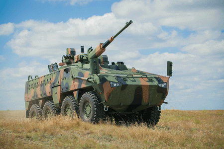 Latest generation of armoured vehicles on display