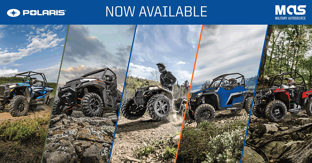 Polaris teams up with Military AutoSource and the Army & Air Force Exchange Service to offer off-road vehicle to overseas US troops