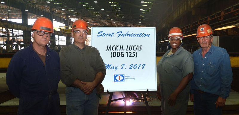Huntington Ingalls Industries begins fabrication of destroyer Jack H. Lucas (DDG 125)