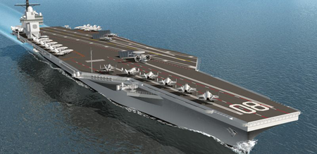 Huntington Ingalls Industries receives contract to kick off advance fabrication of Aircraft Carrier Enterprise (CVN 80)