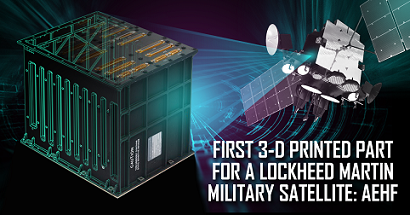 Lockheed Martin is using 3-D printed parts for US military satellites