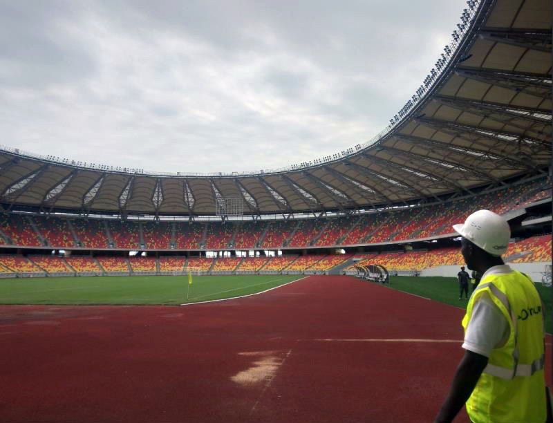 Probecom installation at Stadium in Cameroon