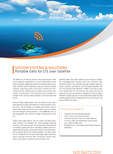 Portable Cells for LTE over Satellite