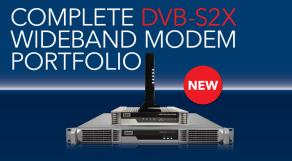 Newtec unveils a number of new DVB-S2X wideband products