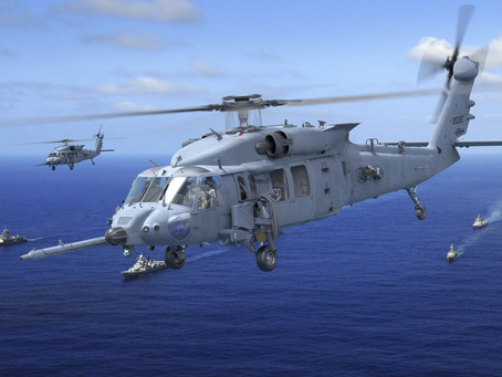 Sikorsky HH-60W combat rescue helicopter weapons system, operational flight trainers in final assemb
