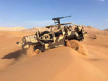 Supacat unveils HMT 400 Desert special operations vehicle at IDEX