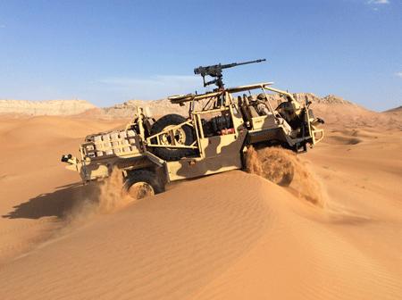 Supacat unveils HMT 400 Desert special operations vehicle at IDEX