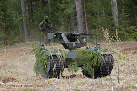 FN Herstal and Milrem Robotics to demonstrate autonomous weaponized unmanned ground vehicle concept at EUROSATORY