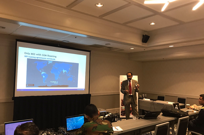 Thuraya conducts intensive training at Pacific Endeavor 2017
