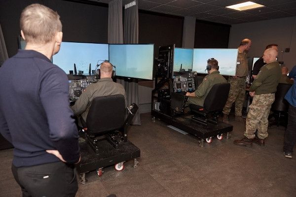 New F-16 Simulator training capacity delivered to the Royal Danish Air Force