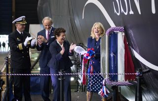 Newport News Shipbuilding Division christens Virginia-Class Submarine Delaware (SSN 791)
