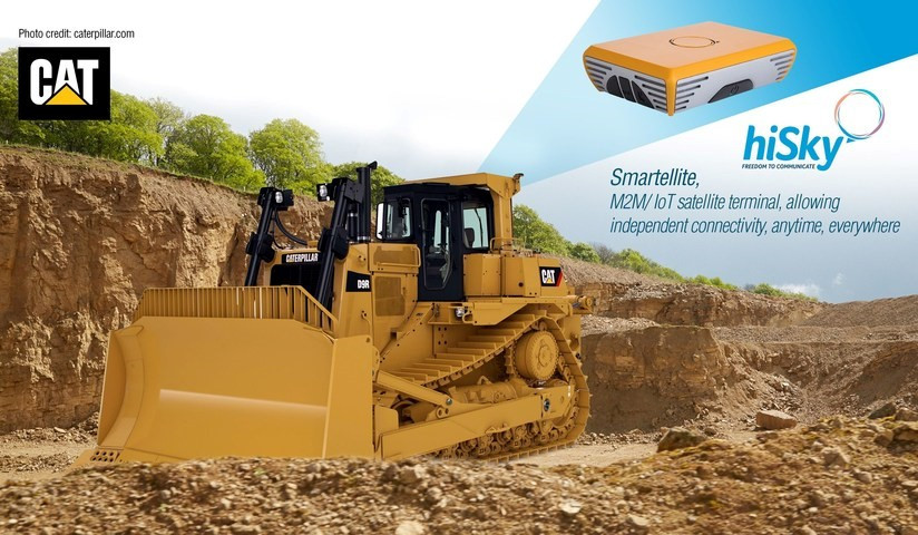 hiSky nad Caterpillar's Israeli Dealer, Israel Tractors & Equipment (ITE) Ltd, are embarking on a joint pilot of hiSky's satellite terminal on Cat Machines