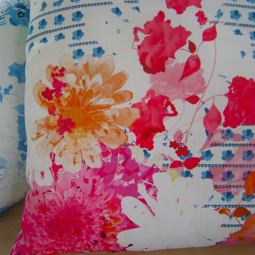 BOUGAINVILLEA PINK FLORAL CUSHION