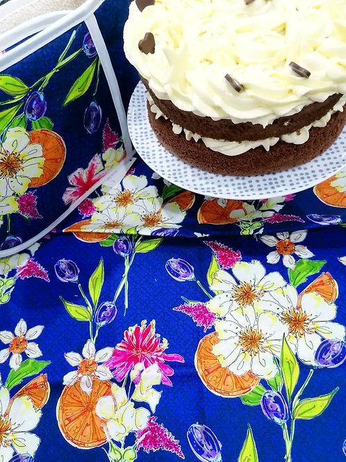 NAVY FLORAL TEA TOWEL