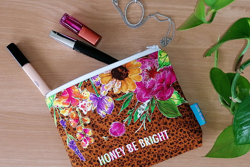 ANIMAL PRINT MAKE UP BAG