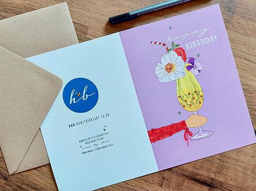 LILAC HAPPY BIRTHDAY CARD