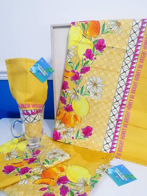 SANTORINI SUMMER TEA TOWEL