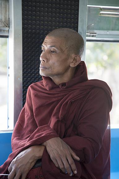 BUDDHIST MONK, YANGON,MYANMAR