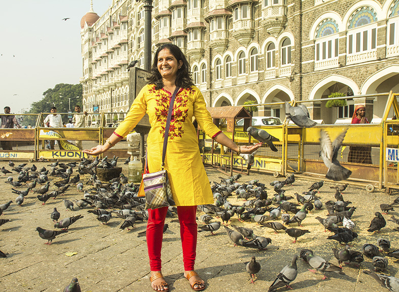 THE PIGEON LADY OF MUMBAI