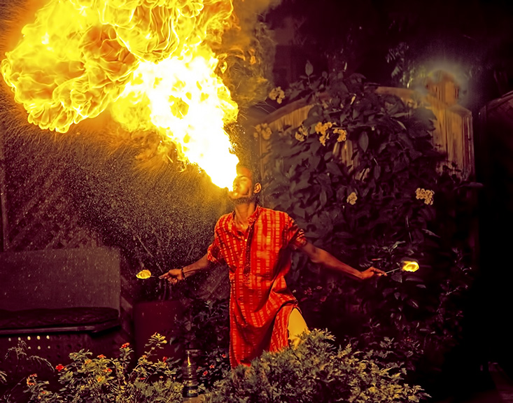 FIRE EATER PERFORMER, AGRA,INDIA