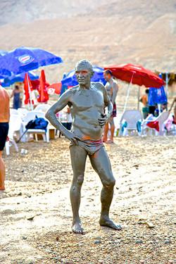 DEAD SEA MUD MAN, ISRAEL