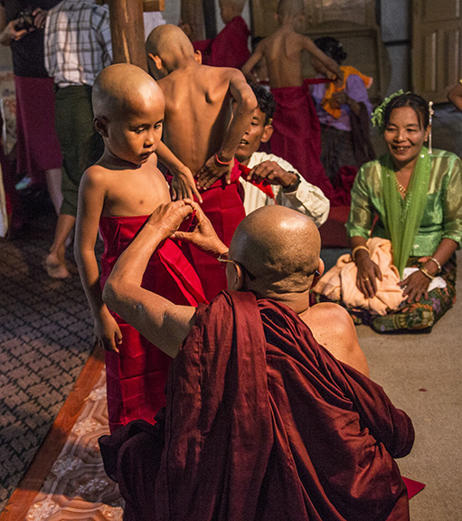 TODAY HE BECAME A MONK, MYANMAR